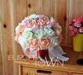 2017 Cheap New Wedding Bouquet Bridal Bridesmaid White/Purple/Pink/Green Artificial Flower Rose Bride Bouquets buque de noiva