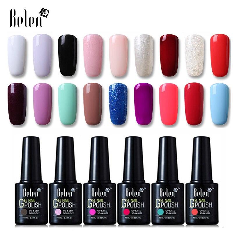 Belen 10ml UV Gel Nail Polish Pure Color Gel Gradient Based Nail ...