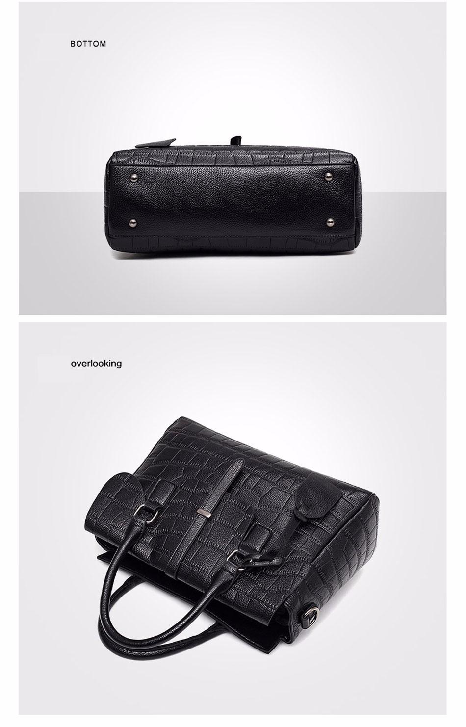 High Quality PU Leather Women's Handbags Shoulder Bag Ladies Hand Bags Stone Casual Women Bag Large Capacity Handbag 17 Sac 12