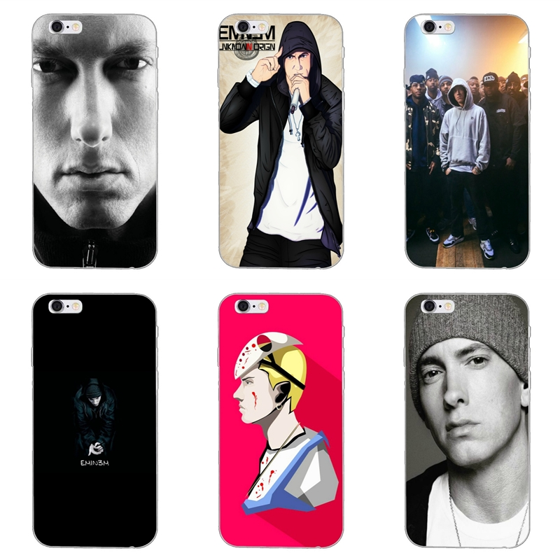 Half-wrapped Case Male Celebrity Hot Singer Eminem For Huawei Honor 4c 5a 5c 5x 6 6c 6a 6x 7 7x 8 9 V8 V10 Y3ii Y5ii Y6ii G8 P7 Play Lite