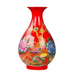 Image 5 - Jingdezhen Porcelain Flower Vase Ceramic Flower Holder 13 Models Choosing Home Desk Christmas Decoration