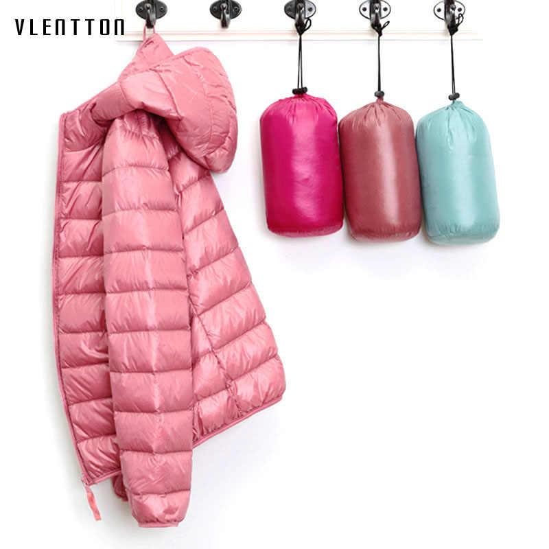Новинка 2019 года ультра легкий пуховики и парки для женщин для зимнее пальто с капюшоном длинным рукавом Теплый Тонкий 6XL плюс разме