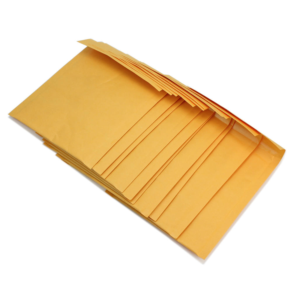 10 Pcs/lot Different Sizes Yellow Kraft Paper Bubble Envelopes Gifts Package Mailers