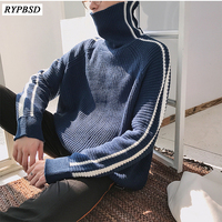Wool Sweater Men Loose Fashion Casual Winter Thick Mens Turtleneck Sweater Pullovers Men Knitted Sweater Jumpers Man