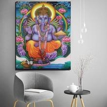 цена Color Ganesha Drawings Wall Art Canvas Painting Poster Prints Modern Painting Wall Pictures For Living Room Home Decor Framework онлайн в 2017 году