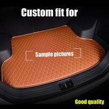 RKAC Custom fit esteiras Mala do carro para BMW série 3 E46 E90 E91 E92 E93 F30 F31 F34 GT 5D estilo do carro tapete do assoalho forros