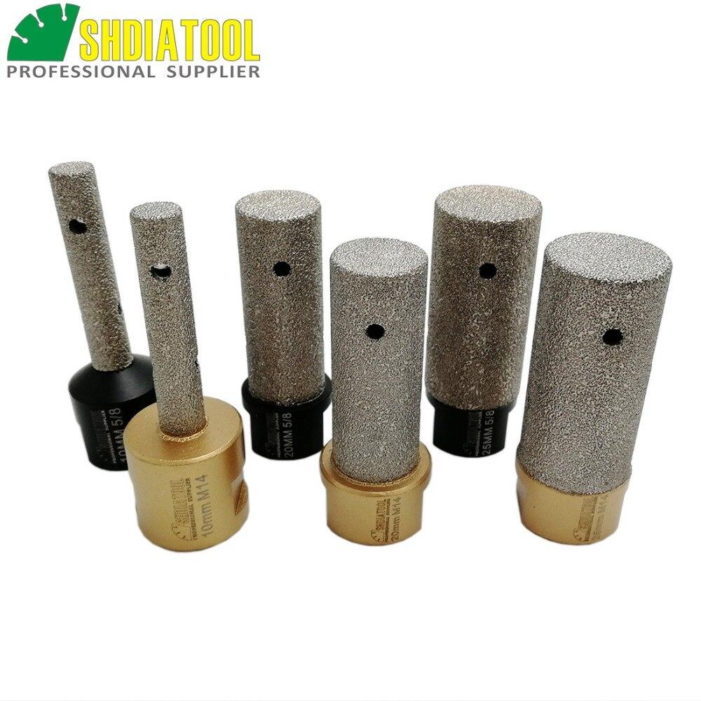 Купить с кэшбэком DIATOOL 1pc Dia 10/20/25mm Vacuum Brazed Diamond finger bits With 5/8-11 or M14 Thread Enlarge shape round bevel existing hole