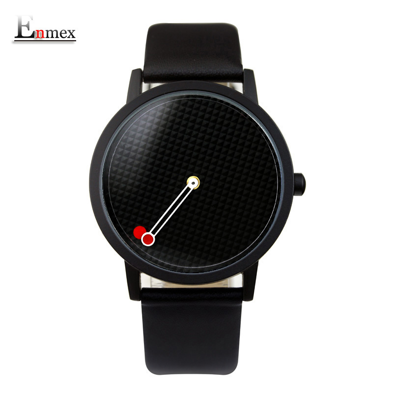 2017 men gift Enmex brief design gentlemancreative geometric designs Floating pointer 3D dail with  young fashion quartz watches 2017 lady gift enmex abstract patterns elegant temperam with simple unique design for young women fashion quartz watches
