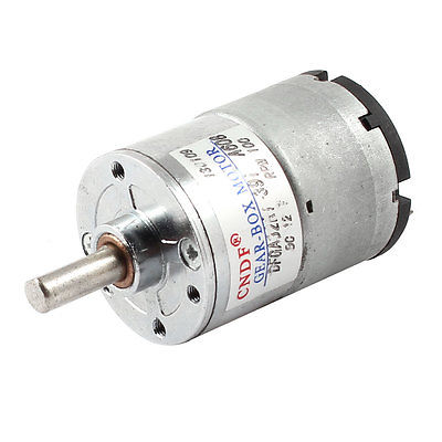 DC12V 24V 100RPM 5/10.15/20/50/300/400/600/700/1000RPM 6mm Shaft Cylinder Shape Electric Geared Box Speed Reduce Motor DFGA32R round shaft cylinder electric mini vibration motor 6900rpm 1 5 6vdc