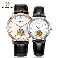 STARKING 2019 механические часы для влюбленных часы для мужчин и женщин платье наручные часы из натуральной кожи модные повседневные наручные ча