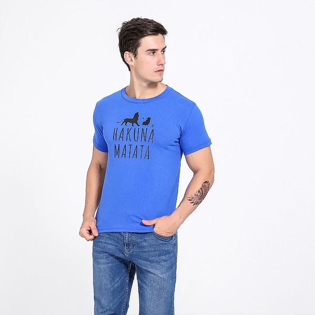 7 colors HAKUNAMATATA Printed T-shirt for Men