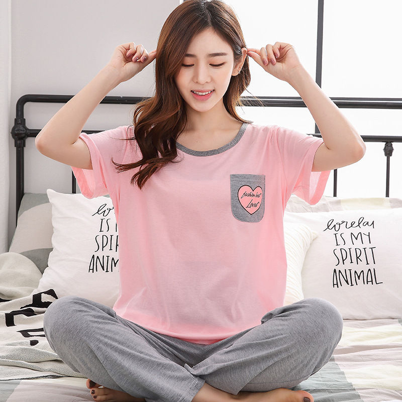 Ladies Sexy 100% Cotton   Pajama     Set   Pyjama   Set   Sleeveless Pejama   Set   O-neck Sleepwear Autumn Winter HomeWear Sleep Wear For Women