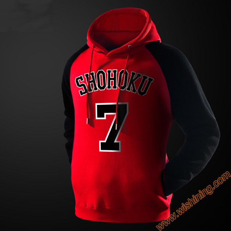 High Quality Slam Dunk Hoodie Red Hooded Sweathisrt For Men Boy