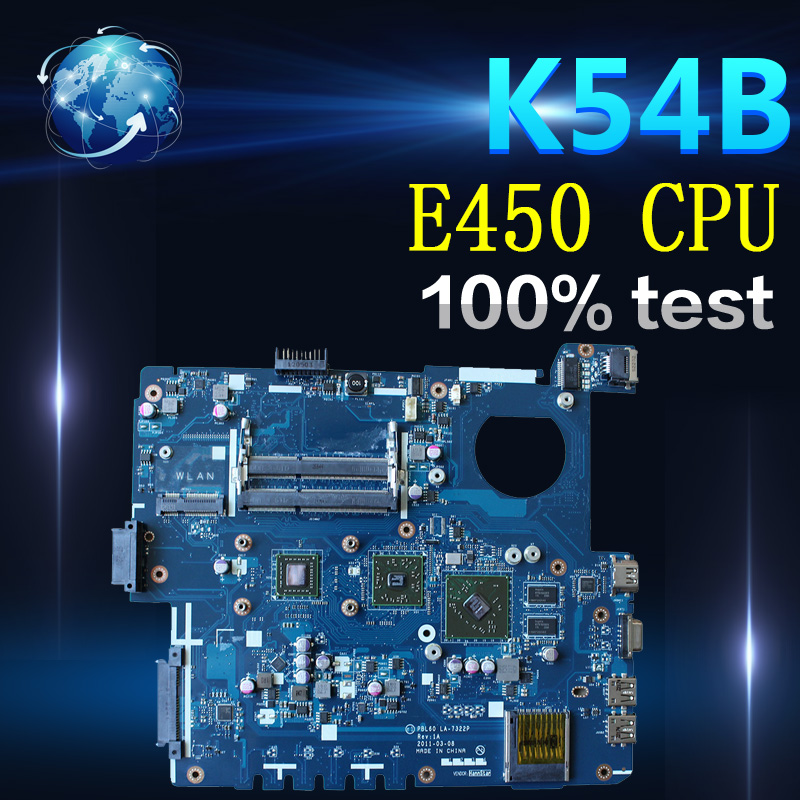 Amazoon X53B Laptop motherboard for ASUS X53B K53B X53BY X53BR K53BR K53BE Test original mainboard PBL60 LA-7322P REV:1A E450CPU