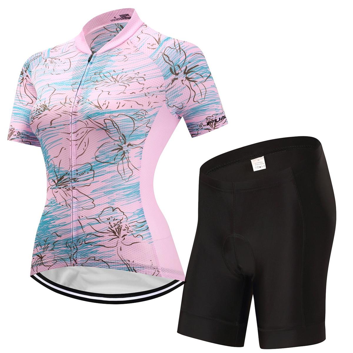 2017 Для женщин Велосипедная форма Лето MTB велосипеда Велоспорт Джерси Наборы для ухода за кожей Ropa Ciclismo дышащая Велосипедный Спорт Одежда Ма...