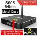 10 pcs t95-1gb/8 gb kodi custom made 2 anos de garantia 4 k amlogic s905/s905x quadcores metal caso google iptv android caixas de tv