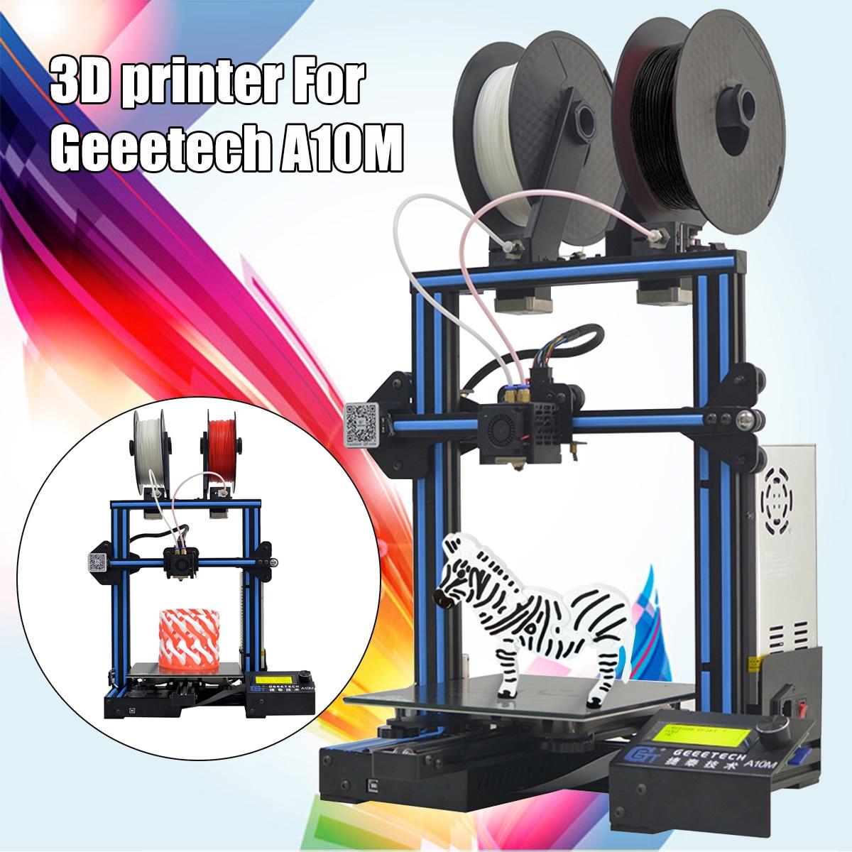 A10M Mix-couleur I3 3D Imprimante Taille D'impression Avec Double Extrudeuse/Filament Détecteur/Résumé De Puissance/3:1 train d'engrenages Tableau De Commande