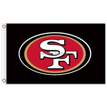 San Francisco 49ers Banner Flag 3-Foot By 5-Foot Black SF Cubs World Series Banner Football San Francisco 49ers Flag