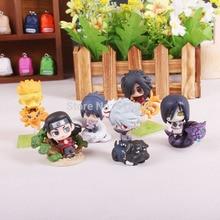 Naruto Uzumaki Naruto Orochimaru Uchiha Sasuke Hatake Kakashi Mini PVC Action Figure Toys Dolls 6pcs/set NTFG077
