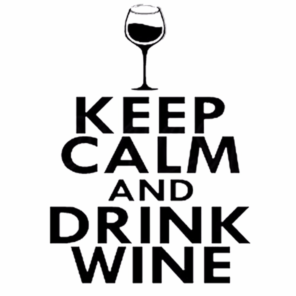 Keep Calm And Drink On Wine Glass