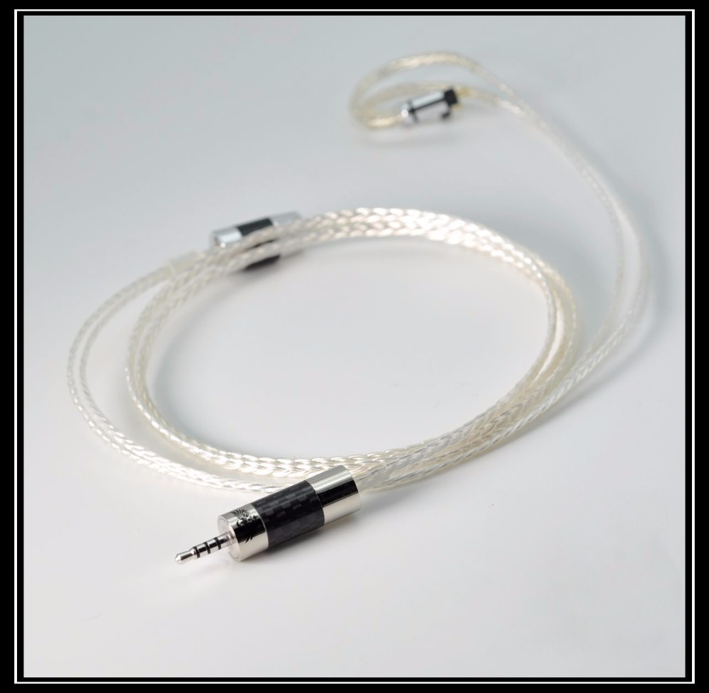 New NICEHCK MMCX Cable 2 5mm Balanced 8 core Sterling Silver Cable MMCX Cable Use For