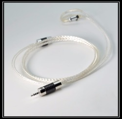 New NICEHCK MMCX Cable 2.5mm Balanced 8-core Sterling Silver Cable MMCX Cable Use For MaGaosi K5 LZ A5 NICEHCK HK6 HC5 DT300