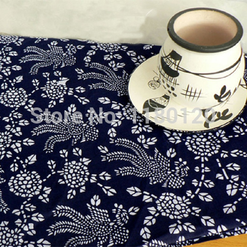 Country Style Upholstery Thick Cotton Material Home Decor Indigo