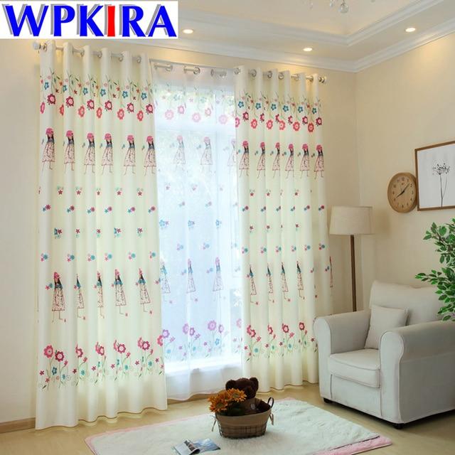 Cartoon Princess Kid Curtain Fabric Living Room Children Bedroom Curtains Nursery Cortina Window Drape Baby