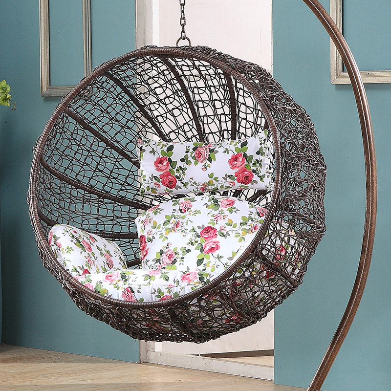 1 piece patio chair cushions dining room covers clear online buy wholesale rattan swing from china wholesalers | aliexpress.com