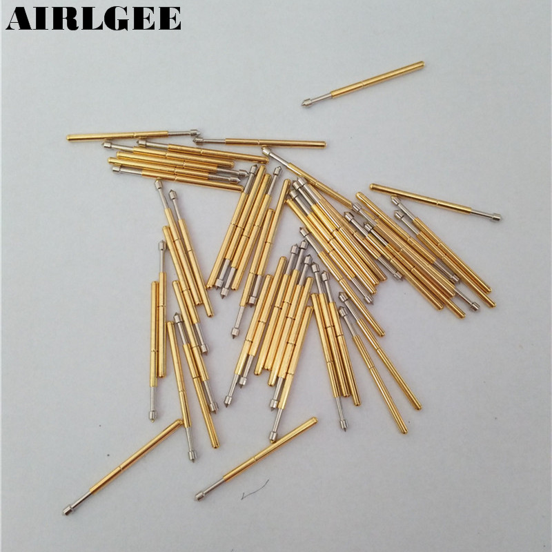 50 Pieces P160-E2 1.5mm Convex Tip Spring PCB Testing Contact Probes Pin Free shipping