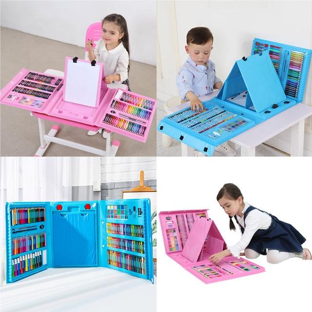 Набор цветных карандашей 176 шт., набор для рисования, набор для рисования, маркер, ручка, кисточки, набор инструментов для рисования, товары для детского сада