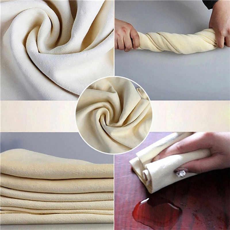 جلد شمواة الطبيعية القماش تنظيف الملابس سيارة غسل الجلد المدبوغ منشفة ممتصة 5 أحجام