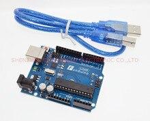 UNO R3 für Arduino (mit LOGO) MEGA328P ATMEGA16U2 10set = 10 stücke board + 10 stücke usb kabel