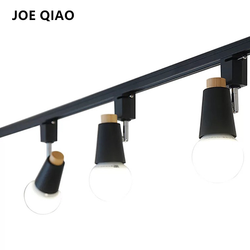 Pendant lights for track lighting Low Voltage Free Shipping Joe Qiao Modern Iron Style Creative Indoor Track Lighting Rotatable Living Room Pendant Lights Blackwhite Color Aliexpresscom Free Shipping Joe Qiao Modern Iron Style Creative Indoor Track