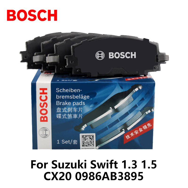 Galleria fotografica 4pieces/set <font><b>Bosch</b></font> Car Front Brake Pads For Suzuki Swift 1.3 1.5 CX20 0986AB3895