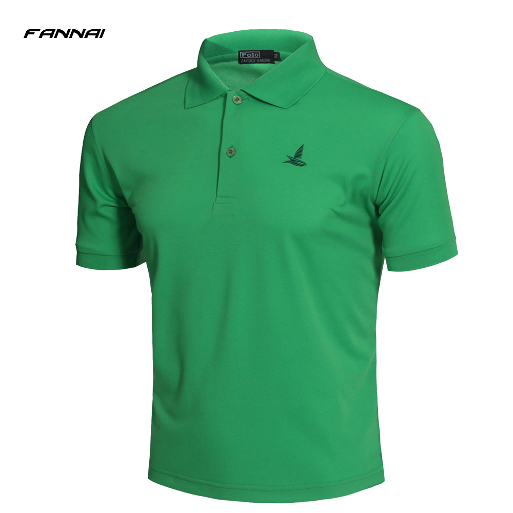 2018 New Professional Mens Golf Running Fitness Training Polo T-shirts DRY Breathable Short Sleeve Shirts Sports Tee Tops