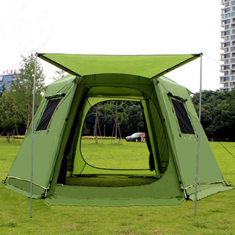 368 368 190cm 5 8 Person Large C&ing font b Tents b font Waterproof Double Layer ...  sc 1 st  Extra Outdoor & 368*368*190cm 5-8 Person Large Camping Tents Waterproof Double ...