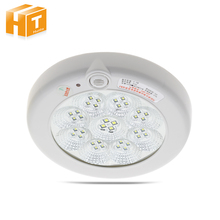 LED Radar Sensor Panel Ceiling Light Body Induction 7W 11W Surface Mounted Automatic Detector Lamp