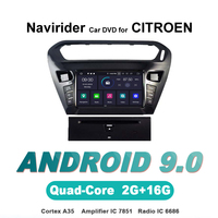 Navirider OS 9.0 Car Android Player For CITROEN ELYSEE 301 stereo radio gps navigation bluetooth TDA7851 Amplifier sound System