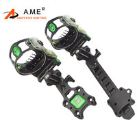 IQ Miras Bowsight 5 pins Archery Compound Bow Sights Laser LED Light Illuminated By Optical Fiber Micro Optic Sight Hunting