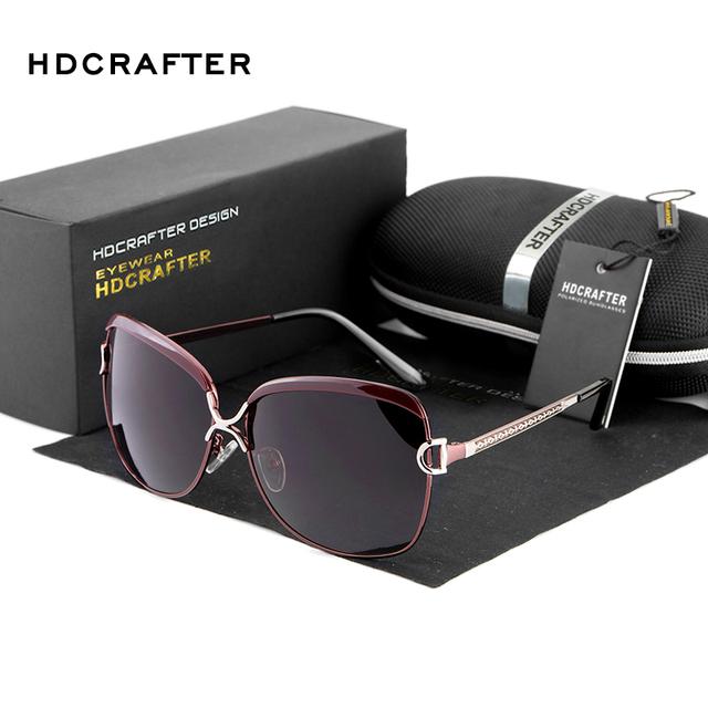 2017 Luxury Brand Designer Sunglasses Women Oversized Polarized Sun Glasses For Women HDCRAFTER Vintage Female Ladies Glasses
