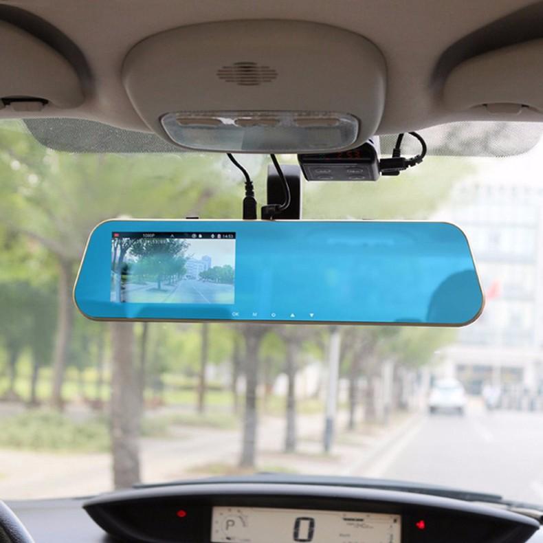 Jansite 1080P Car Dvr Blue Review Mirror Dual Lens Car Camera two cameras Loop record Recorder Auto Registrator Camcorder 32