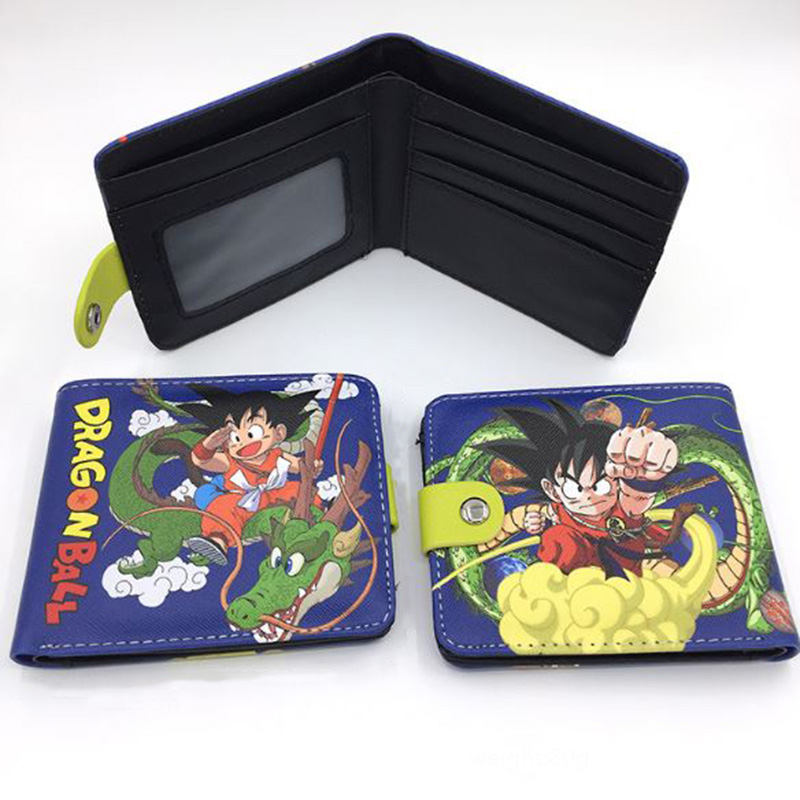 1 Pc New Arrival Anime Dragon Ball Wallets Purse Short Wallet Student Coin Purse Card Holder Cosplay Figure Toy