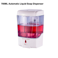 Wall Mounted 700ml Hand Sanitizer ABS Automatic Infrared Sensor Liquid Soap Dispenser Low Consumption
