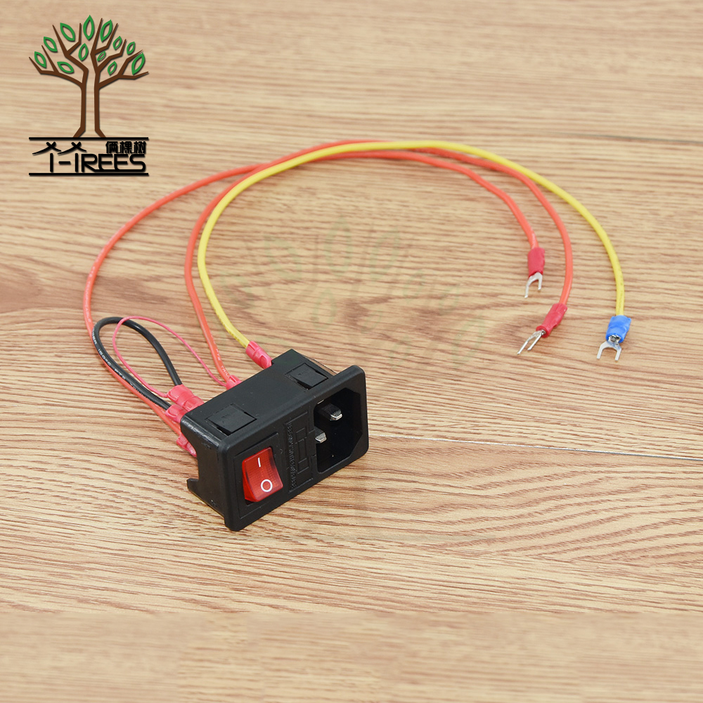 цена на 3D Printer Parts 220V/110V 15A Power Supply Switch Male Socket with Fuse for 3D Printer DIY 3D Printer Accessories