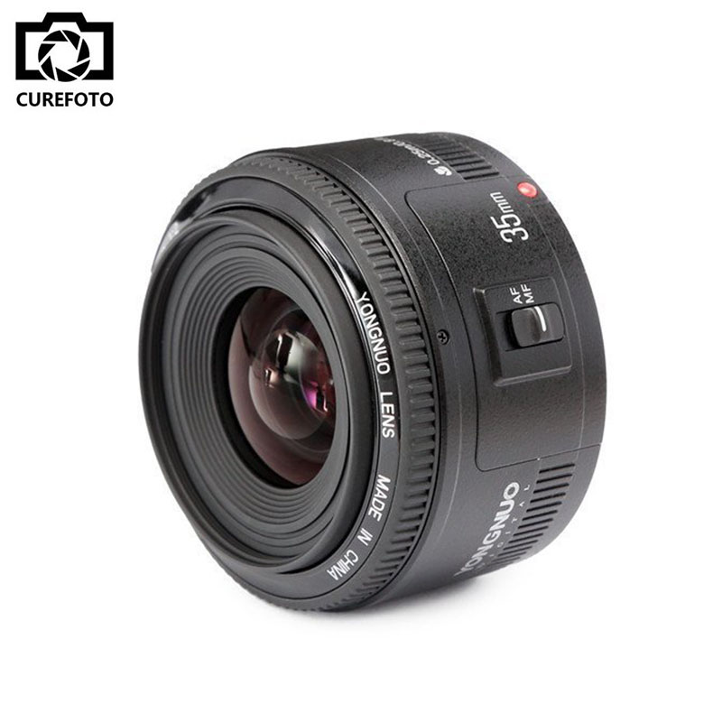 New YONGNUO YN35mm 35mm F2 EF Lens 1:2 AF/MF Wide-Angle Large aperture Fixed/Prime Auto Focus Lens For Canon EF Mount EOS Camera mf2300 f2