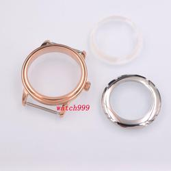40mm sapphire róża kryształowa złoty zegarek przypadku stałe ze stali nierdzewnej ETA 2824 2836 Miyota 8215 821A ruch DG2813 w null od Zegarki na