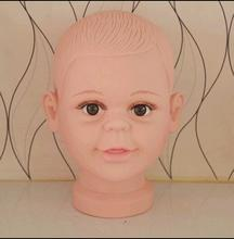 wholesale PVC Realistic Plastic Baby kid head Mannequin For Wig Hat Sunglass Display child head Mannequin kappers pop 1PC B617
