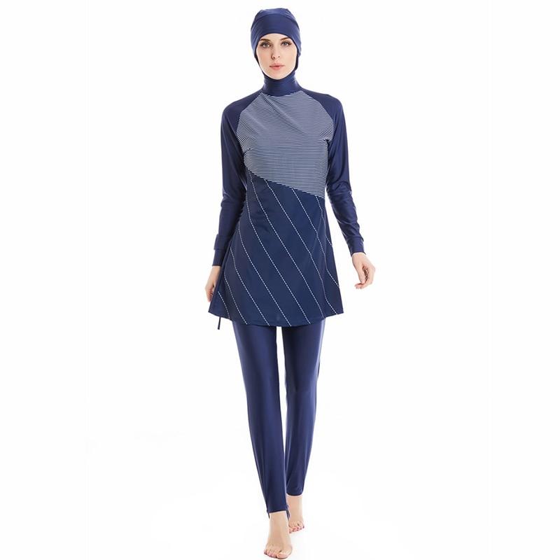 Modest Muslim Swimwear Hijab  Women Plus Size Islamic Swim Wear Short-sleeved Swimsuit Surf Wear Sport Burkinis