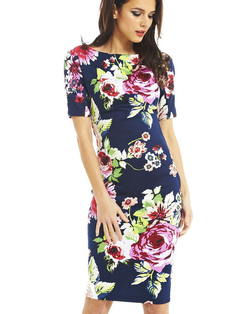 Women Dress Vestidos Elegant Floral